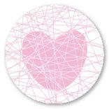 Sticker hart Love Roze