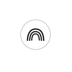 Sticker regenboog zwart/wit 10 stuks (EG)