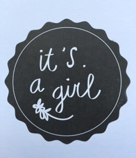 Sticker it's a girl zwart 5 stuks