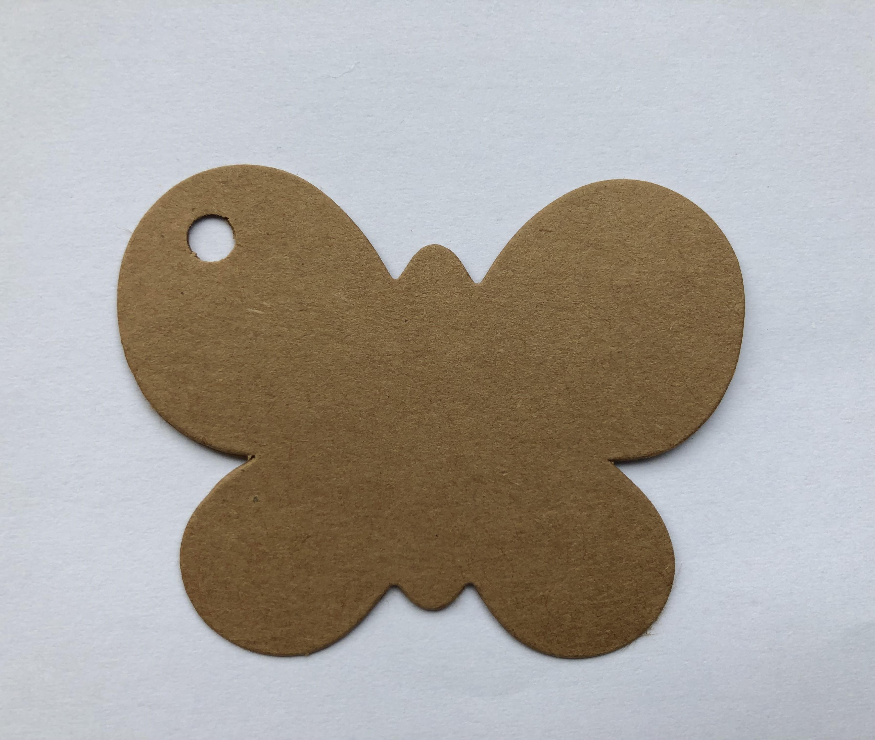 Label kraft vlinder