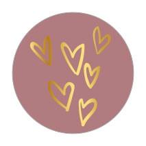 Sticker Nude hartjes goud 10 stuks (EV)