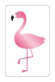 Stickers flamingo goudfolie 10 stuks