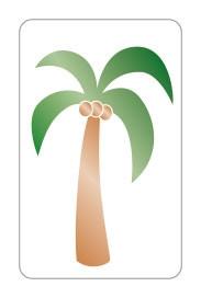 stickers palmboom goudfolie 10 stuks