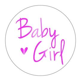 Stickers Baby Girl Goudfolie Roze 10 stuks