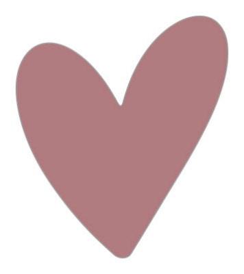 Sticker hart vorm nude 10 stuks (EPS)