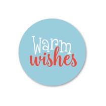 Kerst stickerset Warm Wishes 5 stuks (SS)