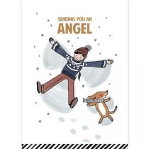 Kerstkaart Sending you an angel (CW)