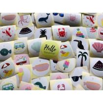 Stickerpakket 50 stuks zomer