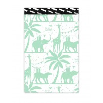 Kadozakje Tropical party jungle mint/zwart/wit 17x25 cm 5 stuks