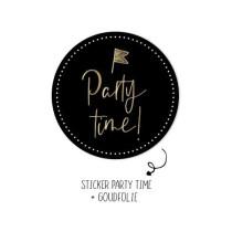 Sticker Partytime 10 stuks (WA)