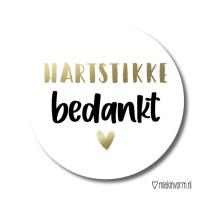 Sticker Hartstikke Bedankt 10 stuks (MV)
