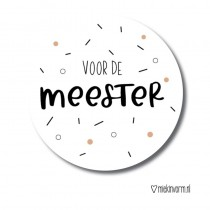 Sticker Voor de meester dots/sprinkles 5 stuks (MV)