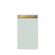 Kadozakje mint/goud 12x19 cm 5 stuks (CW)