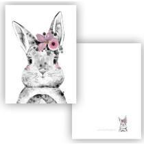 Mini kaartje Bunny roze (ESVA)