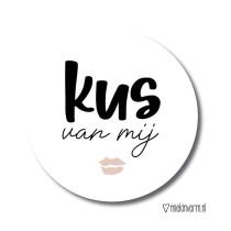 Sticker Kus van mij 10 stuks (MV)