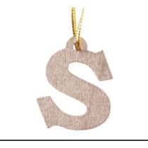Gouden letter S hanger (KP2021)
