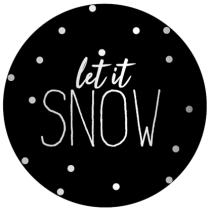 Sticker Let it Snow 10 stuks