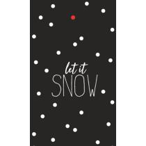 kadolabel let it snow 5 stuks