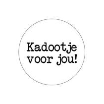 Sticker Kadootje voor jou wit/zwart 10 stuks (KP)