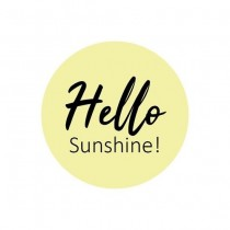 Sticker Hello Sunshine 10 stuks