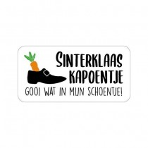 Sint sticker Sinterklaas kapoentje 10 stuks (KP2021)