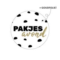 Sinterklaas sticker Pakjesavond 10 stuks