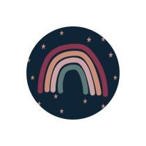 Sticker regenboog met sterren 10 stuks