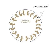 Sticker Voor (krans) 10 stuks