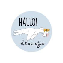 Sticker Ooievaar Hallo Kleintje 10 stuks (KP)