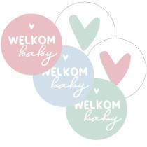Sticker Welkom Baby assortimix 10 stuks (KP)