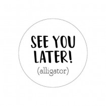 Traktatie-sticker See you later (alligator) 5 stuks (KP)