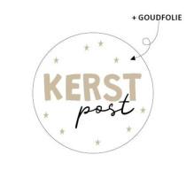 Kerst sticker Kerstpost 10 stuks (KP)