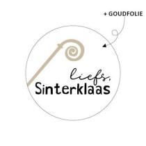 Sinterklaas sticker Liefs Sinterklaas staf 10 stuks (KP)