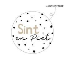 Sticker Sint en Piet dots 10 stuks (KP)