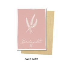 Kaart met enveloppe roze Bedankt Juf! (AWB)