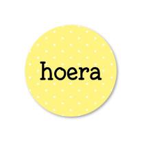 Stickerset ss Hoera geel
