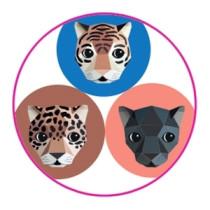 Stickers Jaguar 10 stuks