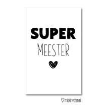 Kadolabel Super meester