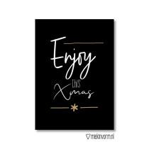 Kerst kaart Enjoy this xmas MV