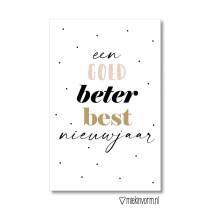 Kadolabel Een goed beter best nieuwjaar