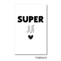 Kadolabel Super juf