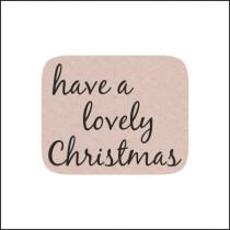 Sticker Have a lovely christmas 10 stuks