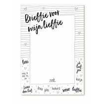 Notitieblokje Brieffie voor mijn lieffie (Zoedt)