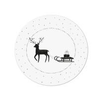 Muurcirkel Kerst hertje met slee