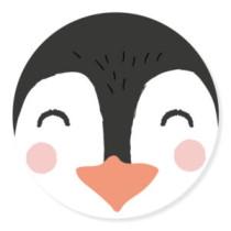 Sticker Pinguin gezichtje 10 stuks (TK)