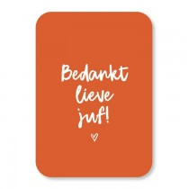 Mini kaart Bedankt lieve juf (KvM)