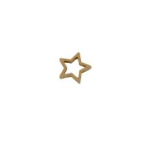 Houten ster goud 5 stuks