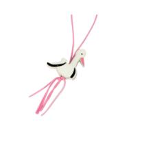 Gelukspoppetje ooievaar roze 5 stuks