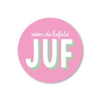 Sticker voor de liefste juf