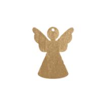 Houten engel goud massief 5 stuks